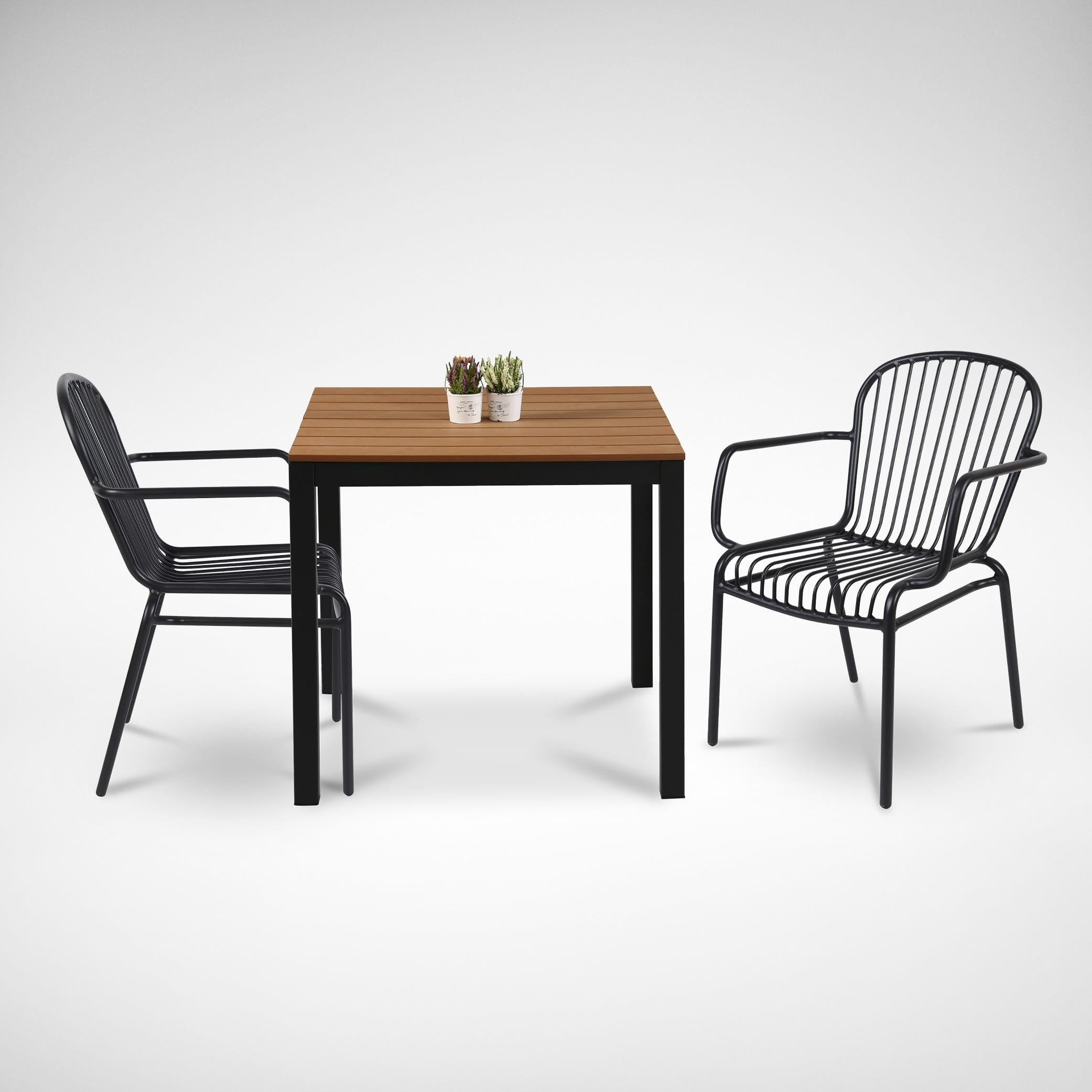 Fossil Square Outdoor Dining Table Renata Armchair