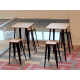 Ministry of Home Affairs | Product Seen: [Leo Bar Table & Leo Barstool SH750 – Wood Seat]