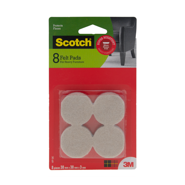 3M Scotch Heavy Duty Felt Pad Circle 38mm