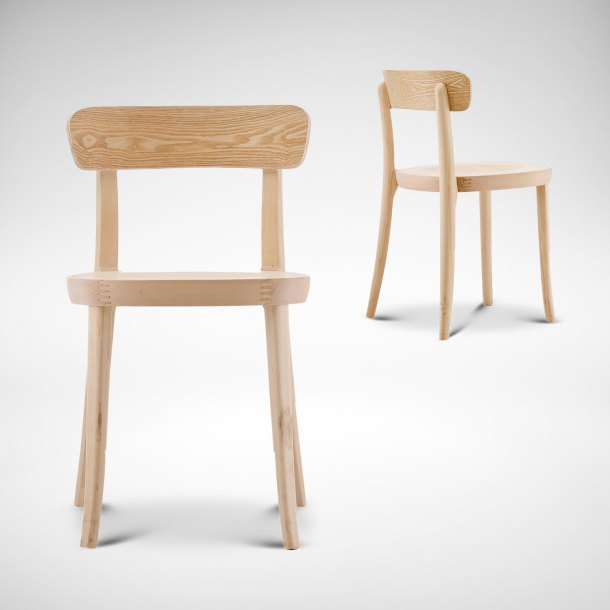 Turie Wood Chair w Wood Seat Frame