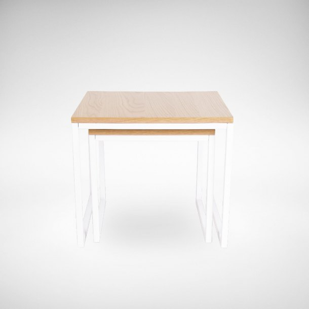 Dina 2-in-1 Coffee Table (Nestable) - White