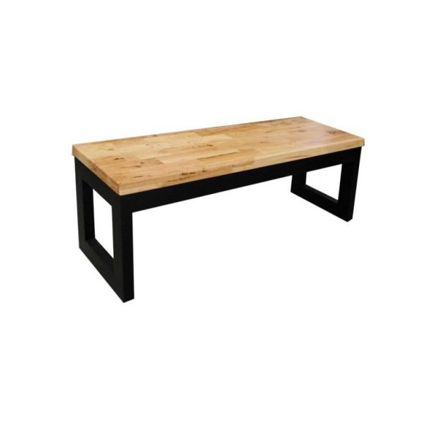 Butcher Bench in Natural + Black color – W1200